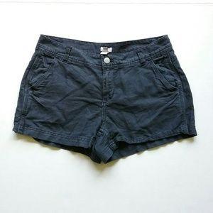 J. Crew Shorts - J Crew Linen Blend Charcoal Black Chino Shorts NWT